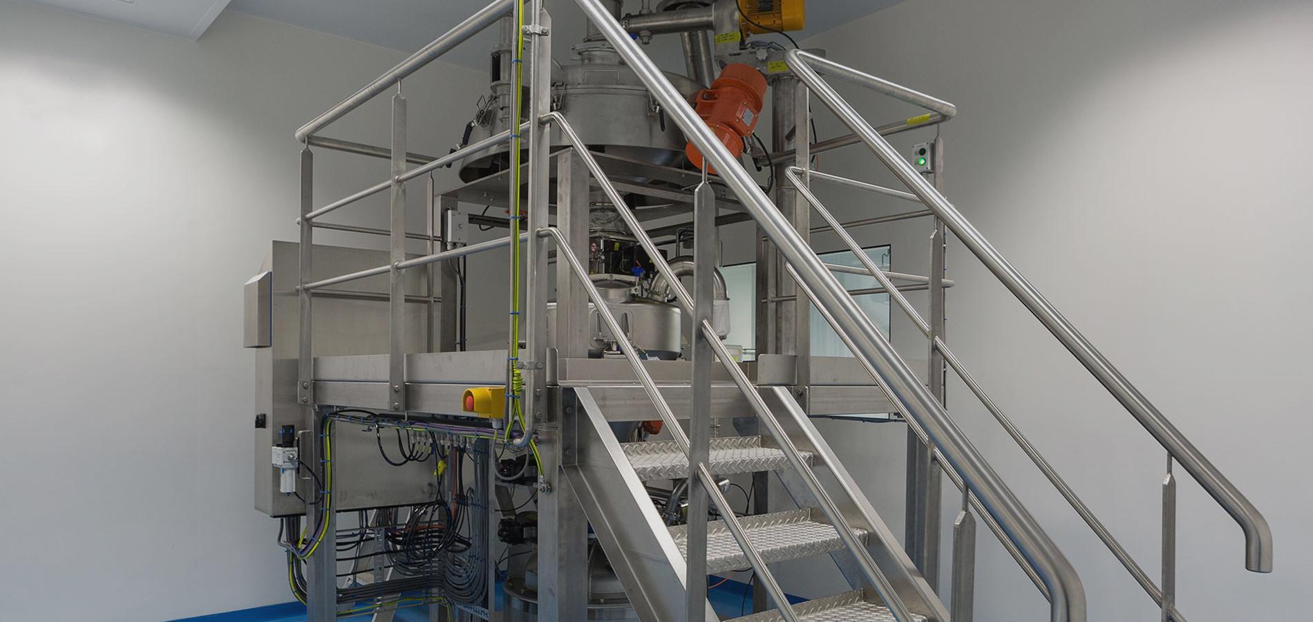 baby food grade sifting, vacuuming and N2 gas purging equipment