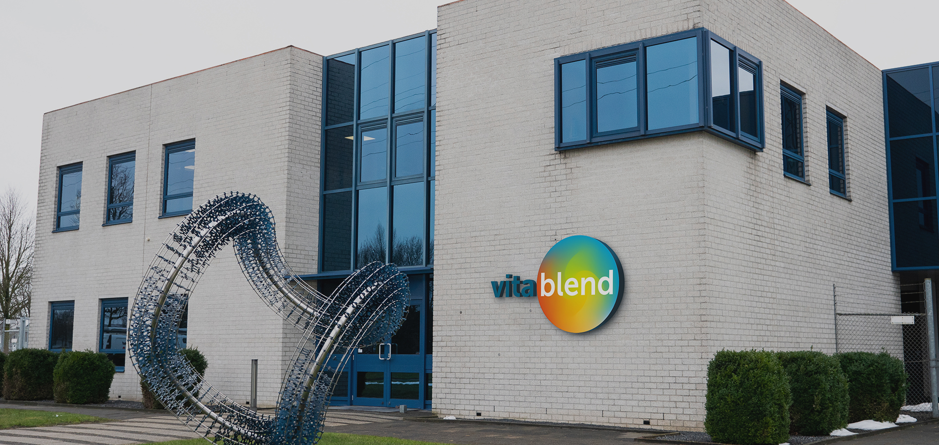 Front of the Vitablend building in Wolvega, the Netherlands