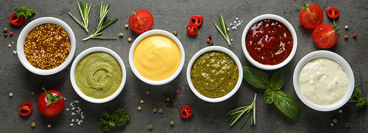 Different kinds of sauces